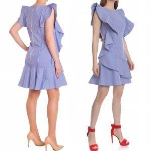 NEW! Ted Baker Stripe Ruffle Dress